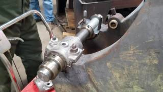 Pouring babbitt bearings on the 6hp Rock Island Hit & Miss Engine