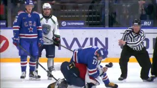 KHL Fight: Ilya Kovalcuk VS Evgeny Orlov full incident