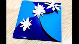 Easy to do Easter pop-up card. DIY Circle flap envelope. Круглый Конверт для подарка
