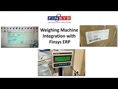 Weighing Machine Integration with Finsys ERP (Flexible Packaging)