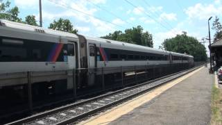 preview picture of video 'NJT ALP46 #4618 Comes In East At Morris Plains 7-24-2012'