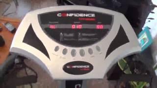 Confidence Fitness Slim Full Body Vibration Platform Fitness Machine, Black review