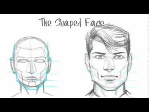 how to draw the male face