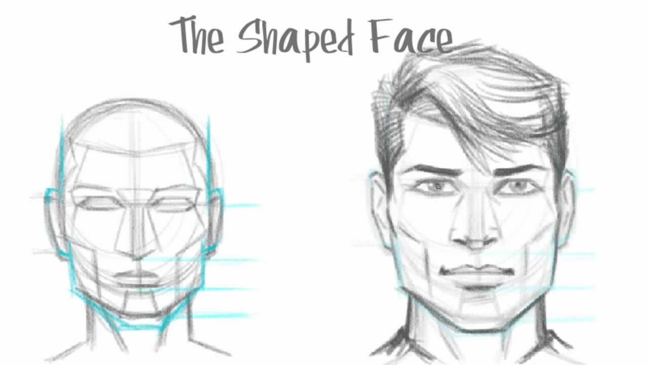 How to draw a face watch video