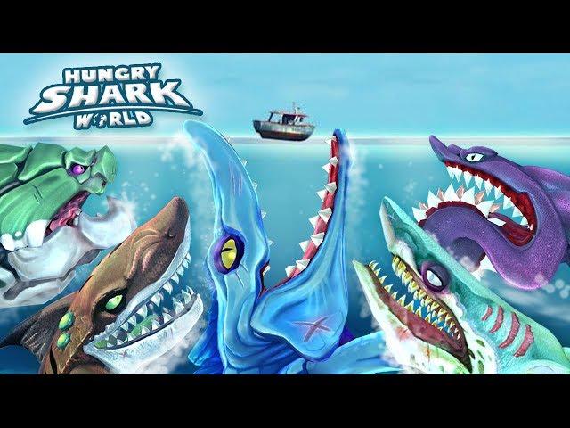 "ALL ""!!"" LARGE SHARKS!!! - Hungry Shark World | Ep 55 HD"