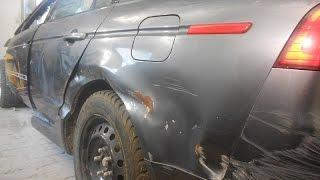 кузовной ремонт. крыло и дверь Acura TL часть1