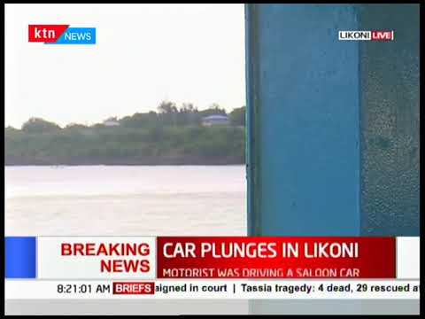 Rescue mission ongoing after a saloon car plunged into Indian ocean this morning