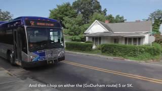 Riders Using TransLoc: Justin's GoDurham Story