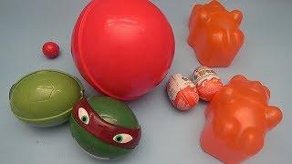 Learn Opposites with Surprise Eggs! Kinder Surprise Huge Giant Jumbo Nesting Gummy Bears!