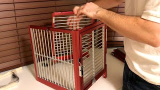 Quick and Easy Assembly of Aluminum Travel Cage