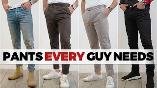 5 Pants EVERY Guy Needs In His Closet | Alex Costa