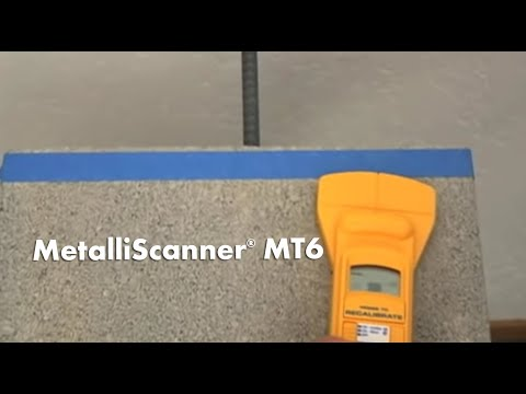 How to Use a Zircon MetalliScanner MT 6 Metal Detector/Locator to Find Metal & Rebar in Concrete