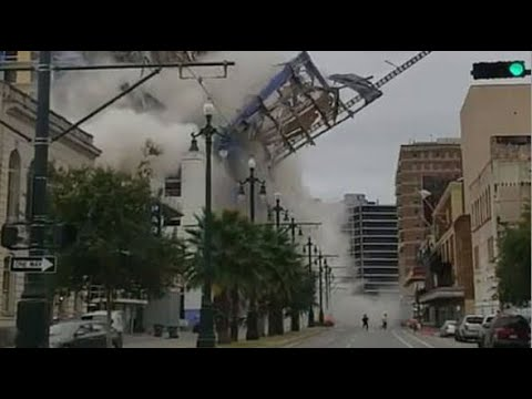 Building collapse in New Orleans kills two| CCTV English