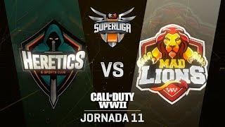 TEAM HERETICS VS MAD LIONS | Superliga Orange COD | (Jornada 11)