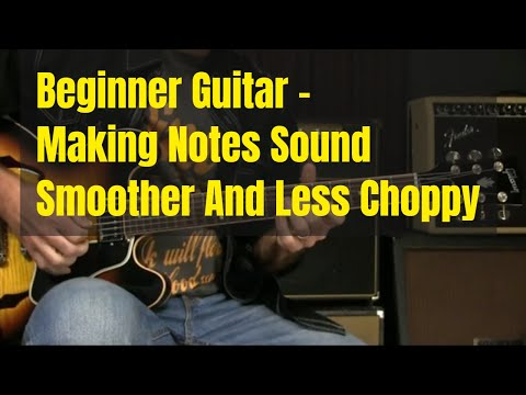 Beginning Guitar Lesson - Smoother Notes And Better String Crossing