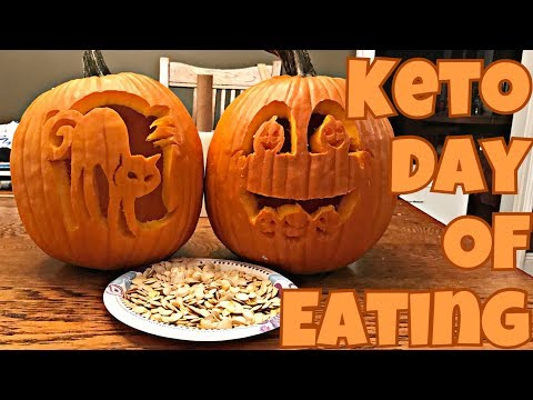 Keto Full Day of Eating | Pumpkin Carving | Best Keto Fast Food