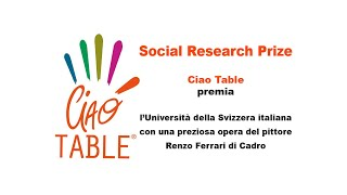 'Diretta streaming Social Research Prize 2020' episoode image