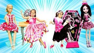 Ищем вещи Барби и Монстер Хай. Игры для девочек