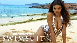 Danielle Herrington Shines Bright In A Revealing Metal Dress In Fiji | Sports Illustrated Swimsuit