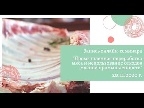 Запись вебинара «Промышленная переработка мяса и использование отходов мясной промышленности» (ч. 1)