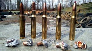 Тестовый отстрел нарезных патронов 30-06 (308) по мокрой бумаге - 30-06 penetration test