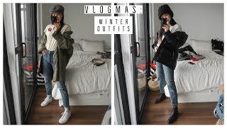 EASY WINTER OUTFIT IDEAS | WHAT I WORE | VLOGMAS !! 24