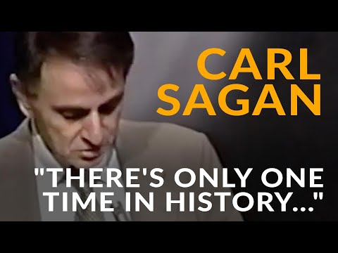 "Carl Sagan on Voyager 2: ""There's only one time in history when this happens."""