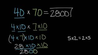 Multiplying 10s | Math | 4th grade | Khan Academy