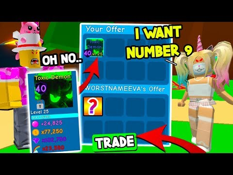 BOUGHT The $250.000.000.000 TOXIC DEMON And Then THIS HAPPENED In BUBBLE GUM SIMULATOR! Roblox