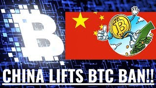 China Lifts Bitcoin Ban - (Webinar to Discuss at 3pm PST Today)