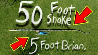 50 FOOT 2500 POUND SNAKE!!! | BRIAN BARCZYK