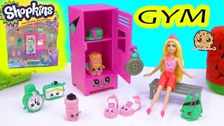 8 New Shopkins Season 5 Playset Gym Fashion Collection with Barbie Cookieswirlc Video