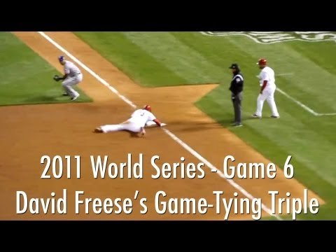 Download Freese Hits Game-Tying 9th Inning Triple - 2011 World Series Game 6 | Cardinals Vs. Rangers 10/27/11 HD Mp4 3GP Video and MP3