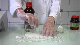 Chapitre 6 - Exercice 18 - Obtention du spectre de la vanilline : vidéo