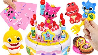 Pinkfong Happy Birthday~ Pinkfong Birthday Cake Play with Baby Shark   PinkyPopTOY