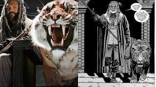 Meeting Ezekiel and Shiva Comparison: Walking Dead TV Show VS Comic (Season 7 Episode 2)