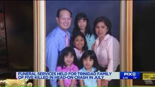 Funeral held for NJ family of 5 killed in a car crash in Delaware