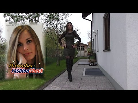 Danielas FashionCheck #033: Overknee-Stiefel (boots, high-heel),  Kleid (leatherlook-dress,)