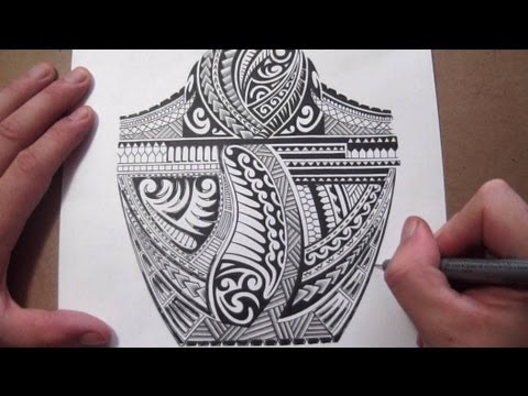 Maori Polynesian Tribal Half Sleeve Tattoo Design - Adding Black Fill Mp3