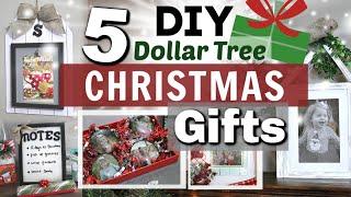 5 DIY Dollar Tree Christmas Gifts | BEST DIY GIFTS | Krafts By Katelyn