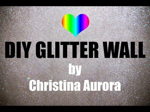 DIY Glitterwall Tutorial / Glitzerwand (GERMAN) - Christina Aurora