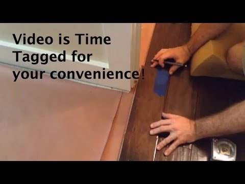 How to install wood flooring – Doorways, Room transitions and floor vents