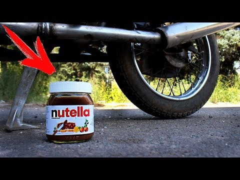 EXPERIMENT: MOTORCYCLE VS NUTELLA