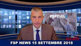 FSP News del 15 settembre 2018.