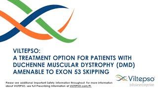 Webinar: Viltepso – A Treatment Option for Patients Amenable to Exon 53 Skipping (April 22, 2021)