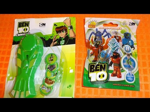 Ben 10 Omniverse Mystery Micro-Figures Surprise Blind Bags & Discs Shooter Toys Sorpresa Mp3