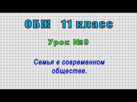 ОБЖ 11 класс (Урок№9 - Семья в современном обществе.)