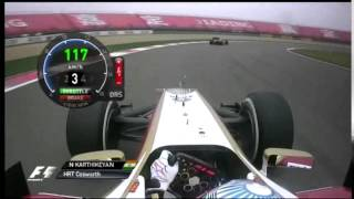 F1 2012 Narain Karthikeyan HRT F112 on board  China  Shanghai