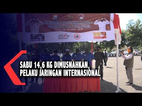 sabu kg dimusnahkan polisi pelaku merupakan jaringan internasional