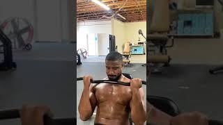 Michael B Jordan lifting shirtless